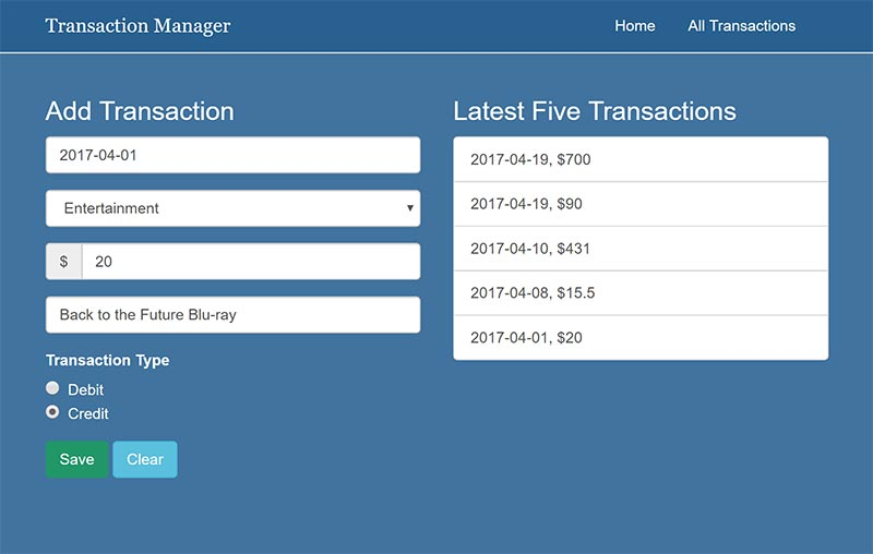 Transaction Manager
